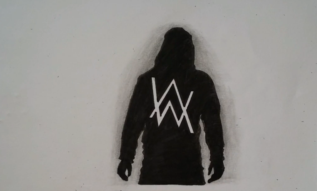 alan walker drawing