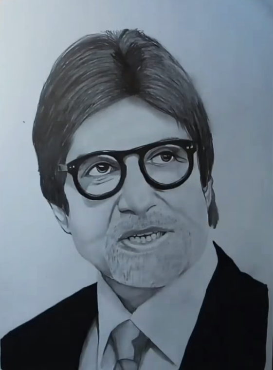 amitabh bachchan drawing