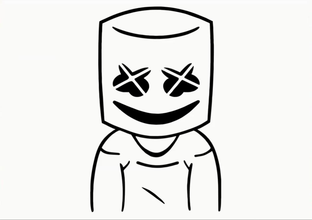 dj marshmello mask
