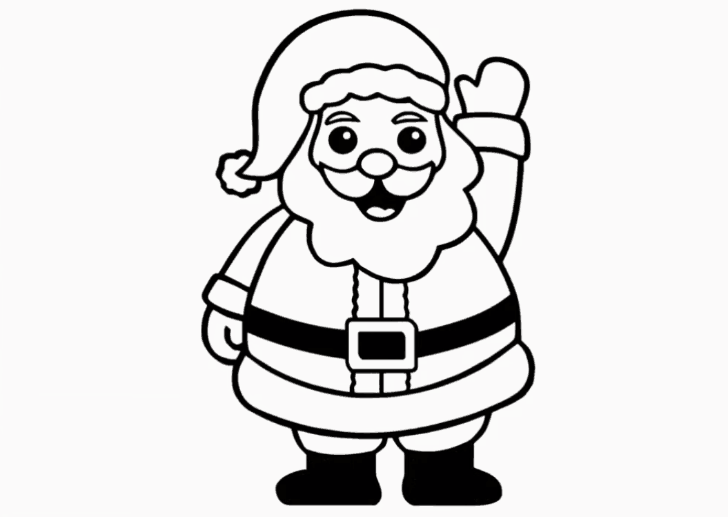 santa claus drawing for kids step by step santa claus drawing for kids step by step