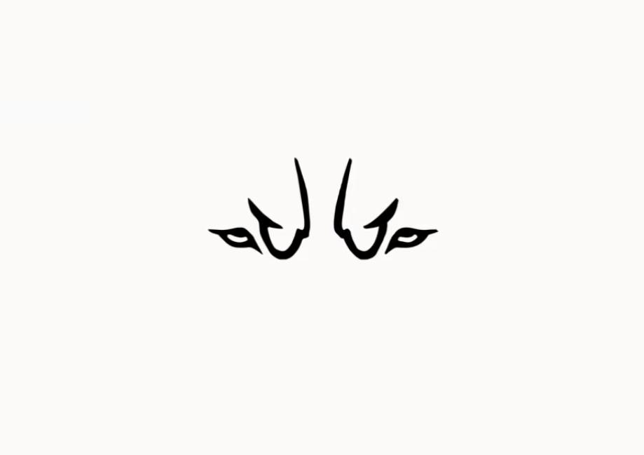 Dog face drawing