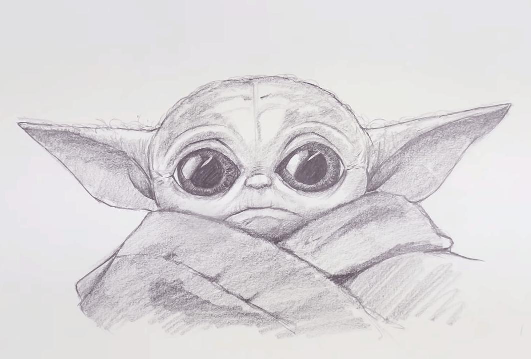 Baby Yoda Drawing