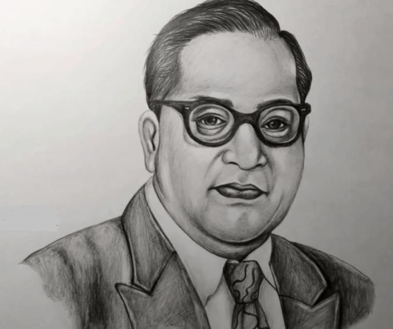 Republic Day Drawing, Dr Br Ambedkar Drawing