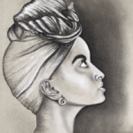 Black Girl Drawing