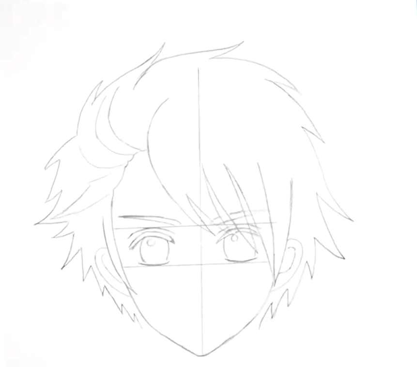 anime guy drawing