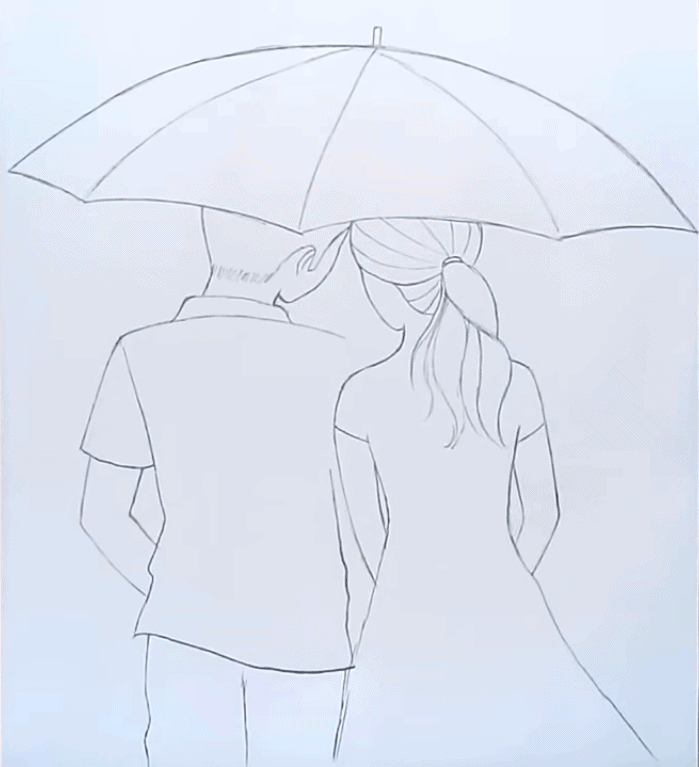 Boy and girl drawing