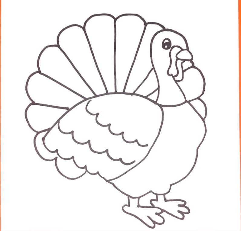 turkey drawing easy