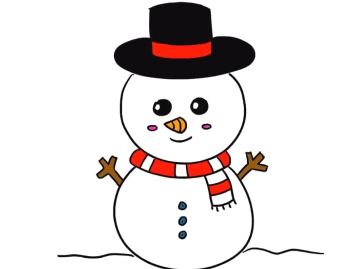 cute snowman drawing