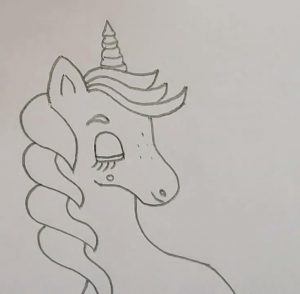 unicorn drawing for kids