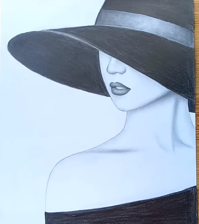 how to draw lady